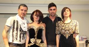 מעצבי השיער רפאל אברהמוב מרמת השרון ואלי חזן מקרית ביאליק, בהדרכה בסטודיו אינדולה